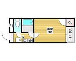 シルフィード堺[4階]の間取り