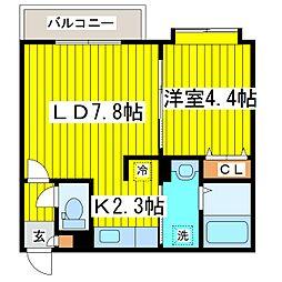 北海道札幌市東区北十条東1丁目の賃貸マンションの間取り
