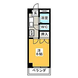 エープレット富士和[3階]の間取り