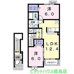 セレブリティ B[2階]の間取り