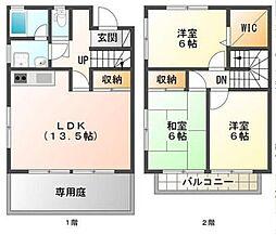 徳島県徳島市中吉野町3丁目の賃貸アパートの間取り