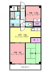 第3サンライズマンション[303号室号室]の間取り