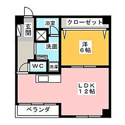 カネハチビル[3階]の間取り
