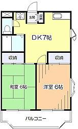 第一OSマンション[1階]の間取り