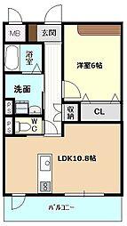 名古屋市営名城線 茶屋ヶ坂駅 徒歩19分の賃貸マンション 1階1LDKの間取り