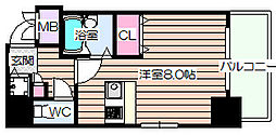ディナスティ福島[8階]の間取り