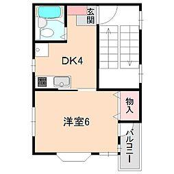 メゾン東栄岡町[402号室]の間取り