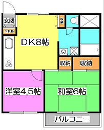 赤塚マンション[3階]の間取り