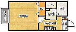 シーソン城泉B棟[1階]の間取り