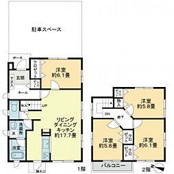 [一戸建] 広島県広島市東区温品7丁目 の賃貸【/】の間取り