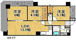 クリアクレセント住之江[11階]の間取り
