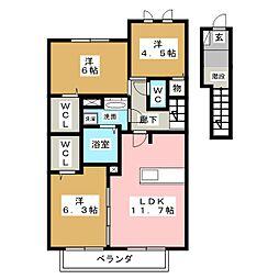 リヴァージュII[2階]の間取り