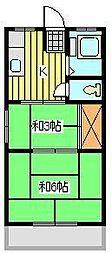 丸善マンション[3階]の間取り