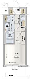 Osaka Metro千日前線 野田阪神駅 徒歩8分の賃貸マンション 2階1Kの間取り