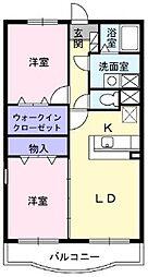 シュード・モンドA[2階]の間取り