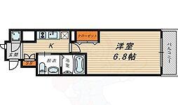 京阪本線 京橋駅 徒歩9分の賃貸マンション 7階1Kの間取り