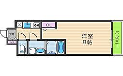 アルグラッド梅田WEST 6階1Kの間取り