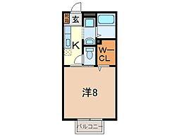 静岡県沼津市下香貫塩満の賃貸アパートの間取り