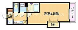 Osaka Metro谷町線 野江内代駅 徒歩8分の賃貸マンション 2階1Kの間取り