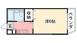 ジョイ甲子園[1階]の間取り
