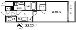エスリード大阪城[5階]の間取り