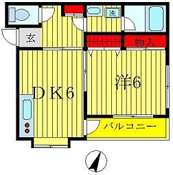 エスポワール堀切[3階]の間取り