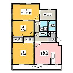Palacio−K[1階]の間取り
