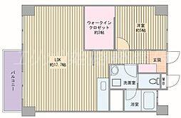 ビラ土山[4階]の間取り