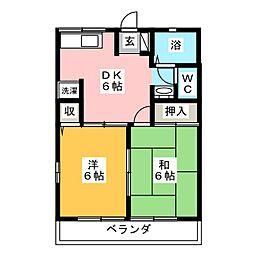 アルペジオB[1階]の間取り