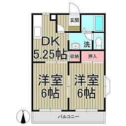 ヴィラージュ鎌倉B[203号室]の間取り