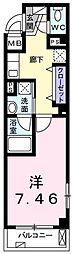 カーサイリーデNISHINO 3階1Kの間取り