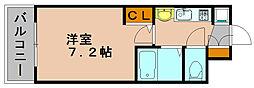 エステムコート博多祇園ツインタワーセカンドステージ[9階]の間取り