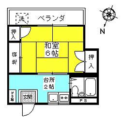 メゾン秀[3階]の間取り
