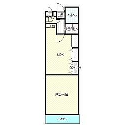 シンフォニー大野城[5階]の間取り