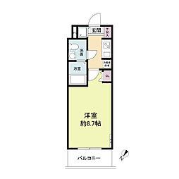 S-RESIDENCE神戸磯上通[1109号室]の間取り