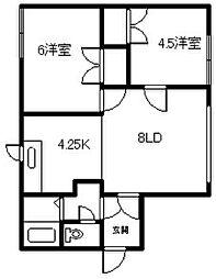 9−22 2戸借家[1号室]の間取り