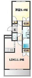 愛知県名古屋市瑞穂区牧町3丁目の賃貸マンションの間取り