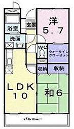 サンライズ中和田[104号室]の間取り