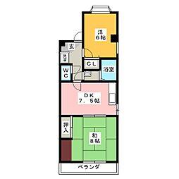 スバルコニシ[3階]の間取り