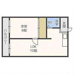 LEE北12条ビル[3階]の間取り