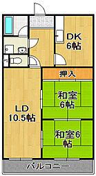 大正中三マンション[2階]の間取り