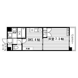 熊本県熊本市中央区黒髪2丁目の賃貸マンションの間取り