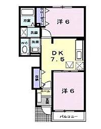アガパンサスII[1階]の間取り