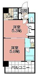 エンクレストNEO博多駅南(1210)[1210号室]の間取り