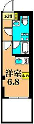 JR京浜東北・根岸線 大井町駅 徒歩6分の賃貸マンション 地下1階ワンルームの間取り