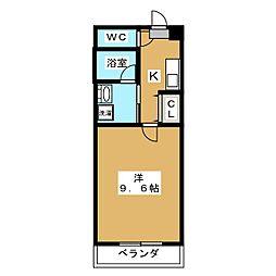 プリマード松伊[5階]の間取り