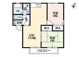 ルミエール筒井[2階]の間取り