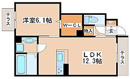 JR山陽本線 明石駅 バス10分 西区役所前下車 徒歩8分の賃貸アパート 1階1LDKの間取り