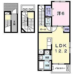 日野アパート[0301号室]の間取り