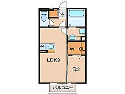 キャラメゾンA棟[2階]の間取り